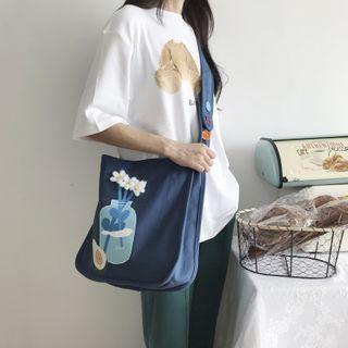 TangTangBags - Printed Canvas Crossbody Bag