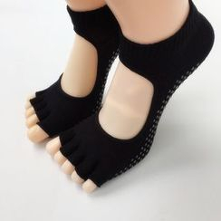 Huasha - Half-Toe Cutout Yoga Grip Socks