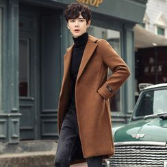 Andrei - Hidden-Button Wool Coat