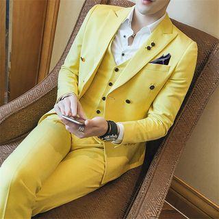 Deepwood - Set: Slim Fit Blazer + Dress Pants + Vest