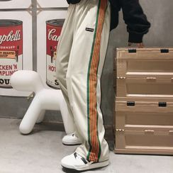 Malnia Home - Couple Matching Striped Sweatpants