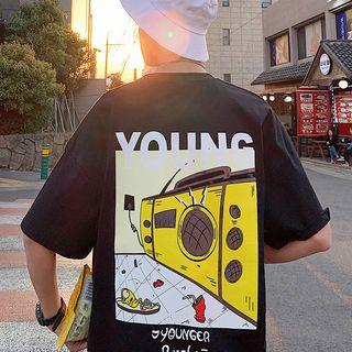 Tonni's - Elbow-Sleeve Printed T-Shirt