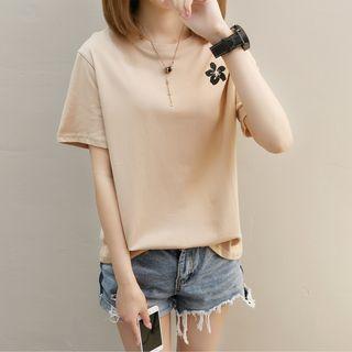 XGZ - Short-Sleeve Embroidery T-Shirt