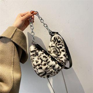 Tiff - Fluffy Animal Print Chain Crossbody Bag