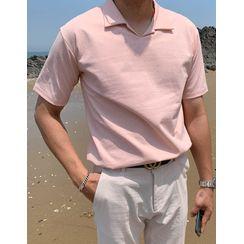 GERIO - Slit-Side Colored Polo Shirt