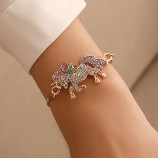 B.muse - Rhinestone Unicorn Bracelet