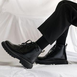 YERGO - Platform Lace Up Short Boots