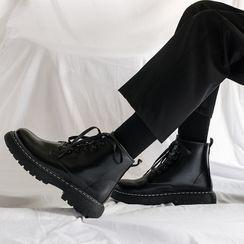YERGO(ヤーゴ) - Platform Lace Up Short Boots