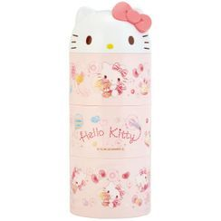 Skater - Hello Kitty 3-Tier Round Lunch Box 480ml