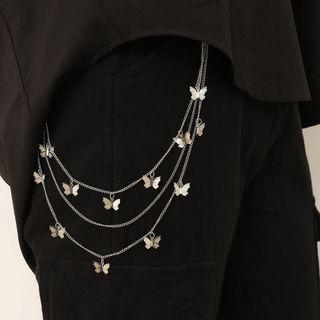 Seirios - Alloy Butterfly Layered Waist Chain