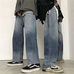Shineon Studio - 渐变色直筒牛仔裤