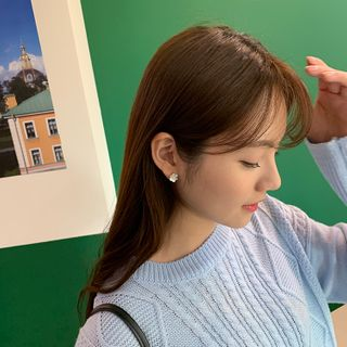 CHERRYKOKO - Flower Motif Ear Studs
