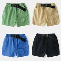 Seashells Kids - Kids Plain Flap-Pocket Shorts