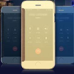 Cellfie - Mirrored Folio Mobile Case - iPhone XS / X / 7 / 7 Plus / 6s / 6s Plus