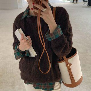 Windcatcher - 麻花針織毛衣 / 格子襯衫