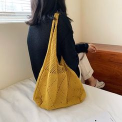 Miloes - Pointelle Knit Tote Bag