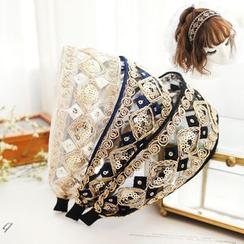 Rosemarie - 刺绣网纱头带