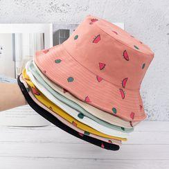 riverain(リヴェラン) - Watermelon Embroidered Bucket Hat