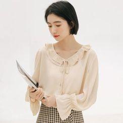 SOMUI - 皺摺邊襯衫