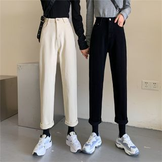 With You - Plain Straight-Fit Jeans