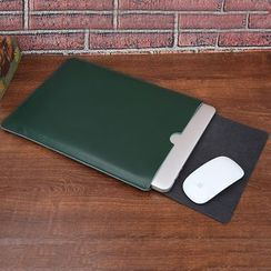 Kinyi - Faux Leather  Laptop Sleeve