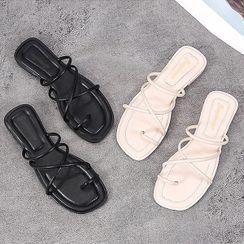 UUZONE - Cross-Strap Slide Sandals