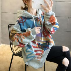 Iduna - Oversized Printed Hooded Pullover