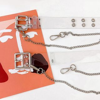 Ayame - Chained Transparent Plastic Belt