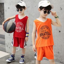PAM - Kids Set: Lettering Tank Top + Shorts