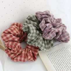Cheveux - Plaid Scrunchie