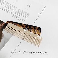 FUNCOCO - 醋酸板材髮梳
