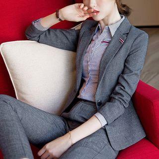 Ice Cloud(アイスクラウド) - One Button Blazer / Dress Pants / Mini Skirt / Shirt / Buttoned Vest / Set