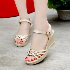 KONIN - Platform Wedge-Heel Sandals
