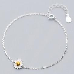 A'ROCH - 925 Sterling Silver Daisy Bracelet