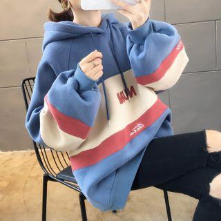 CRIBI - 插色寬鬆連帽衫