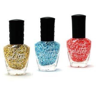 L.A. Girl Cosmetics - Splatter Nail Polish (3 Colors), 14ml