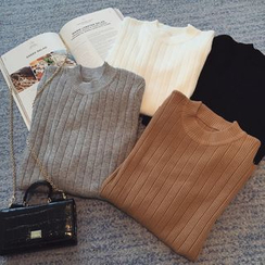 Puntino - Crew-Neck Long-Sleeve Knit Top