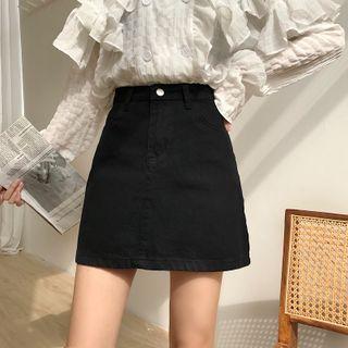 Sisyphi - Denim A-Line Mini Skirt