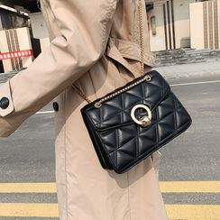 Nautilus Bags - Quilted Faux Leather Crossbody Bag