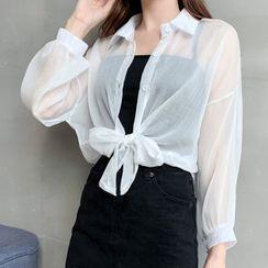 JOWI - Long-Sleeve Chiffon Shirt