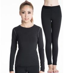 FoxFlair - Set: Long-Sleeve Sport T-Shirt + Yoga Pants
