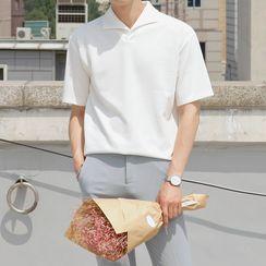 匡億 - 純色短袖襯衫