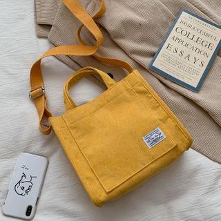 BAGuette - Corduroy Crossbody Tote Bag