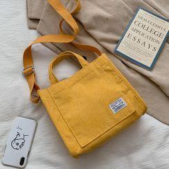 BAGuette - 燈芯絨斜挎手提袋