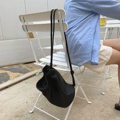 UPTOWNHOLIC - Genuine Leather Bucket Shoulder Bag