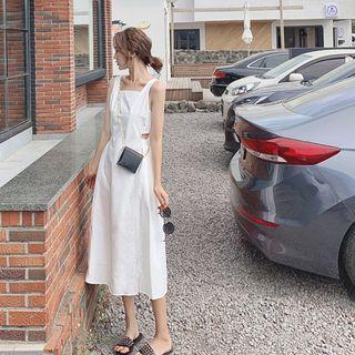 Yuxi - Sleeveless Cutout Midi A-Line Dress