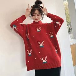 Hummingbae - Dotted Holiday Pattern Sweater