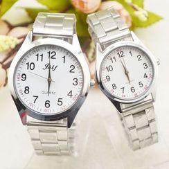 Tazzy - 情侶款不鏽鋼手鏈錶