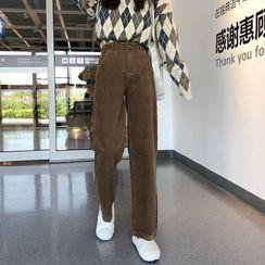 CosmoCorner - Straight-Leg Corduroy  Pants