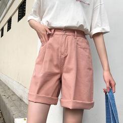 Maisee - High-Waist Long Shorts